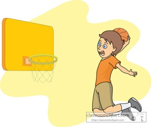 basketball dunk shot clipart